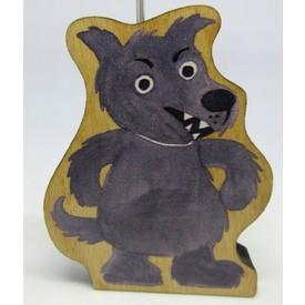 Gerlich Dřevěná loutka Vlk