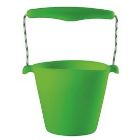 Scrunch silikonový kbelíček zelený