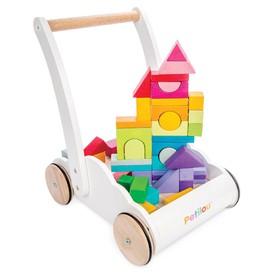Le Toy Van Petilou - Vozík s duhovými kostkami