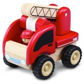 Dřevěné hračky - dřevěné auto - Mini hasiči