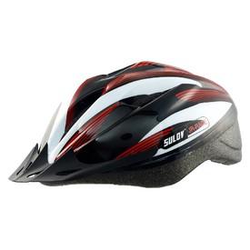 SULOV  Dětská cyklo helma JR-RACE-B  vel. M 53-56cm  černo bílá