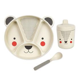 Petitcollage Bambusový jídelní set medvídek
