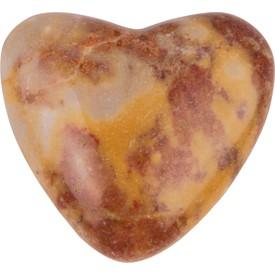Přírodní leštěné  kameny ve tvaru srdce 5 ks