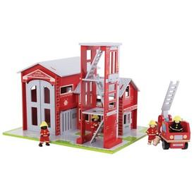 Bigjigs Toys Dřevěný set hasiči