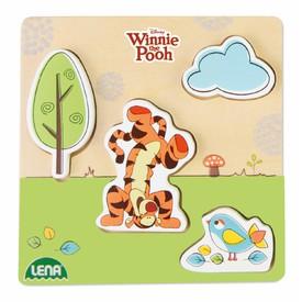 Lena Dřevěné puzzle medvídek Pů s tygrem