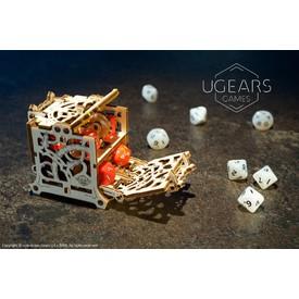 Ugears 3D dřevěné mechanické puzzle Úložný box na kostky