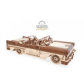 Ugears 3D dřevěné mechanické puzzle Kabriolet snů VM-05