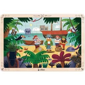 Vilac dřevěné puzzle piráti 42dílků