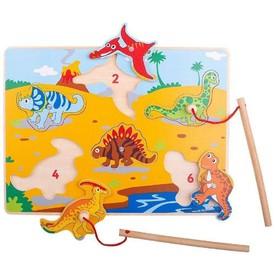 Bigjigs Toys Dřevěné chytání dinosaurů