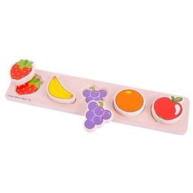 Bigjigs Baby Dřevěné vkládací puzzle Ovoce