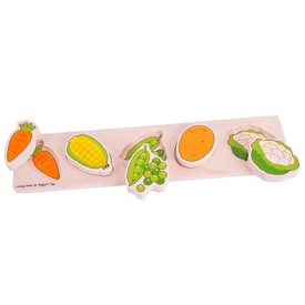 Bigjigs Baby Dřevěné vkládací puzzle Zelenina