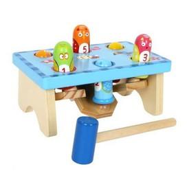 Small Foot Dřevěné hračky zatloukej ptáka - sleva