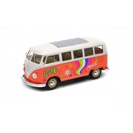 Welly Volkswagen T1 Bus (1963) model 1:24 oranžový