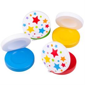 Bigjigs Toys Kastaněty hvězdičky 1 ks žlutá