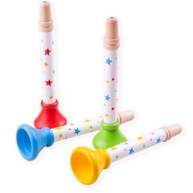 Bigjigs Toys Trumpetka hvězdičky 1 ks červená
