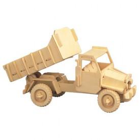 Dřevěné 3D puzzle dřevěná skládačka Nákladní automobil P026