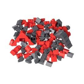 L-W TOYS Kreativní set Střešní prvky červená a tmavě šedá 120 ks