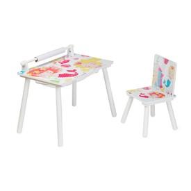 L-W TOYS Multifunkční hrací stůl Malá mořská víla
