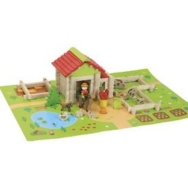 Jeujura Dřevěná stavebnice Moje první farma 80ks