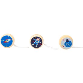 Small Foot Dřevěné jojo Space 1 ks tmavě modrá kosmonaut