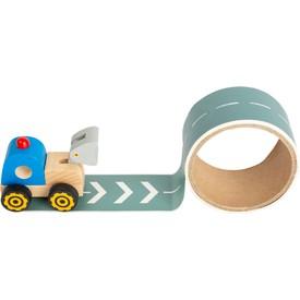 Small Foot Stavební stroj s cestou 1 ks modrá
