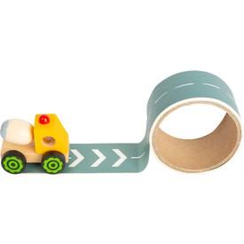 Small Foot Stavební stroj s cestou 1 ks žlutá