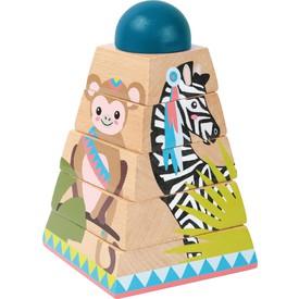 Small Foot Dřevěná nasazovací věž Jungle