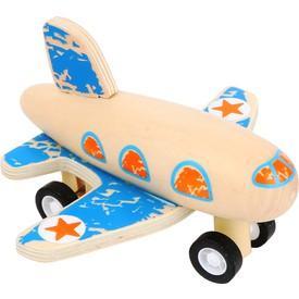 Small Foot Dřevěné letadlo modré