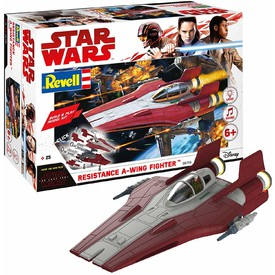 Revell Build Play SW 06759 - Resistance A-wing Fighter (červený)