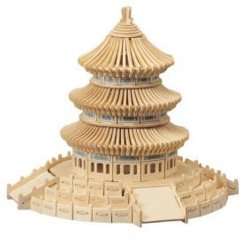 Dřevěné skládačky 3D puzzle slavné budovy Nebeský chrám P075
