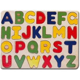 Bino Dřevěné vkládací puzzle abeceda