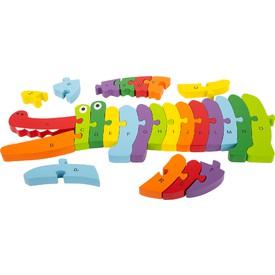 Small Foot Vkládací puzzle krokodýl ABC