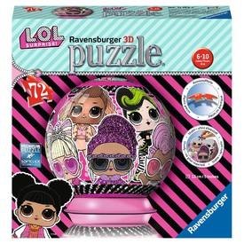 Ravensburger 3D puzzle Puzzleball L.O.L. Surprise! 72 dílků