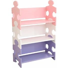 KidKraft pastelová polička Puzzle