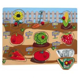 Dřevěné hračky - Vkládací puzzle - Vkládačka - Zahrada