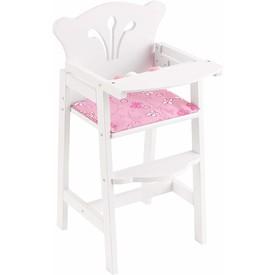 KidKraft jídelní židlička pro panenku bílá
