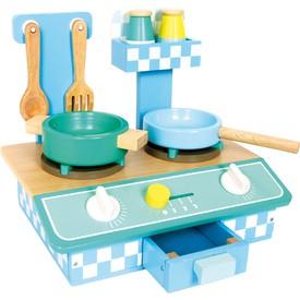 Small Foot Dřevěná modrá kuchyňka