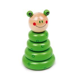 Small Foot Dřevěná motorická nasazovací hra sestavitelná žába