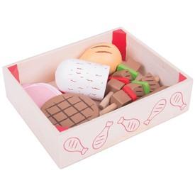 Bigjigs Toys Dřevěné uzeniny v krabičce