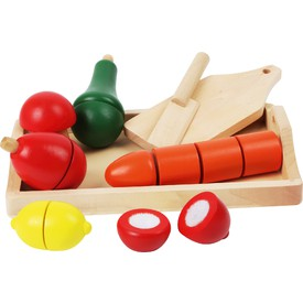Small Foot Dřevěné potraviny krájená zelenina