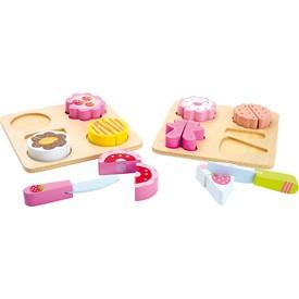 Small Foot Dřevěné hračky sada dortíků na krájení