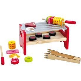Small Foot Dřevěné hračky stolní gril se špízy