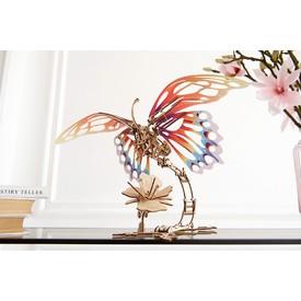 Ugears 3D dřevěné mechanické puzzle Motýl