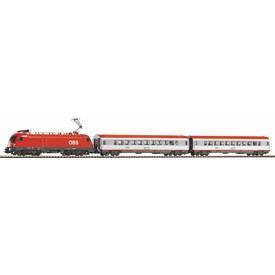 Piko Startovací sada Osobní vlak s elektrickou lokomotivou ÖBB - 59026