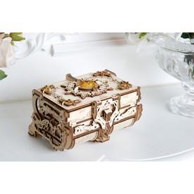 Ugears 3D dřevěné mechanické puzzle Jantarová šperkovnice