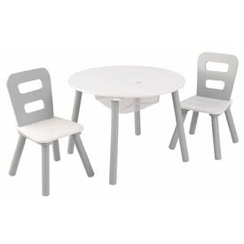Kidkraft Set stůl a 2 židle bílošedý