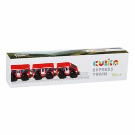 CUBIKA 15108 Rychlík - dřevěný vláček s magnety - 4 díly