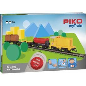 Piko 57090 Startovací sada Nákladní vlak s dieselovou lokomotivou
