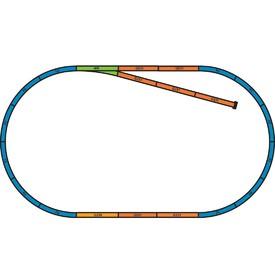 Piko Podloží pro sady kolejí A+B (základní ovál s kusou kolejí) - 55366