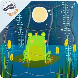 Small Foot Dřevěné puzzle Princ žabák